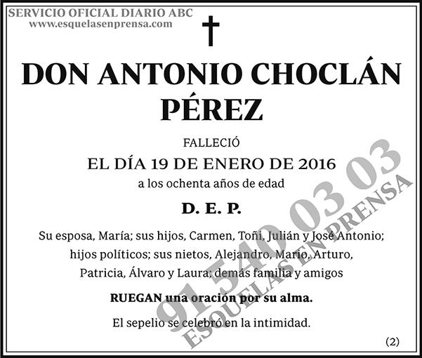 Antonio Choclán Pérez